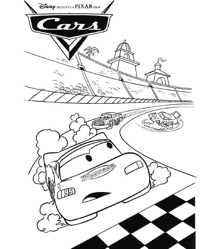 Tegneark tegninger fargelegg kjente disney figurer online disney cars bilder - Image de cars a colorier ...